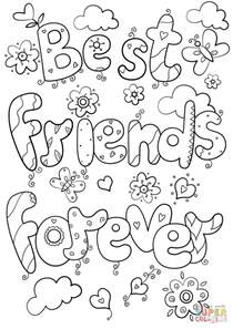 Best Friends Forever Coloring Pages best friends forever coloring page free printable