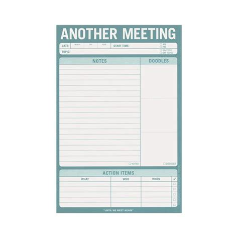 meeting note template meeting notes note pad 7 see work keep track of what was said done and items for