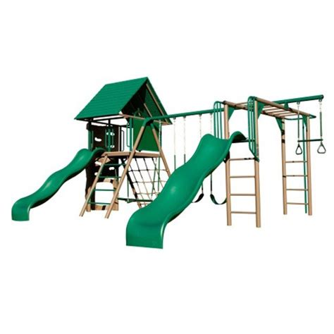 lifetime swing set accessories lifetime double slide deluxe playset earthtone colors