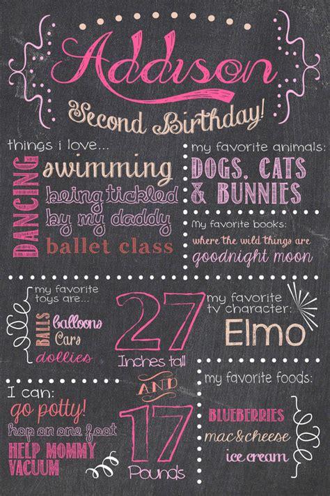 birthday chalkboard poster template lighting