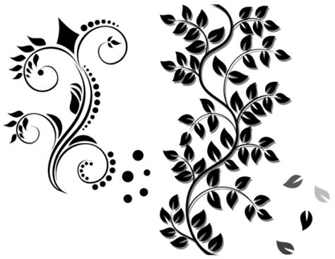 black pattern cdr floral ornament free download vector ai eps cdr free