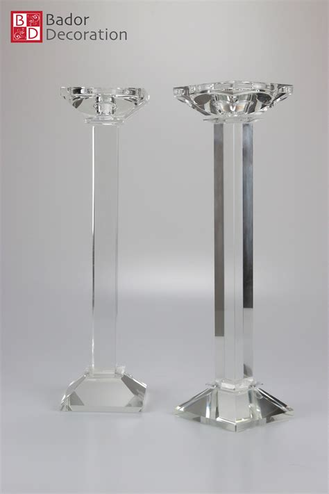 kristall kerzenhalter 2er kerzenst 228 nderset kristall kerzenhalter kerzenleuchter