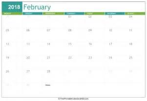 Calendar 2018 Feb February 2018 Calendar Templates