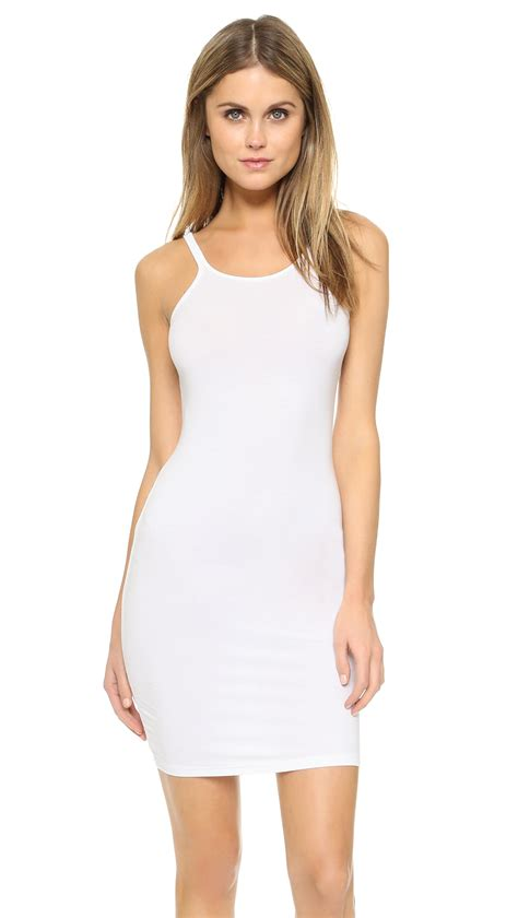 White Tank Dress by T By Wang Tank Dress In White Lyst