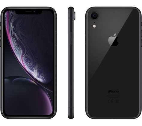 buy apple iphone xr 64 gb black free delivery currys