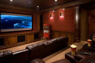 Home Theater Interiors Home Theatre Traditional Home Theater Other Metro
