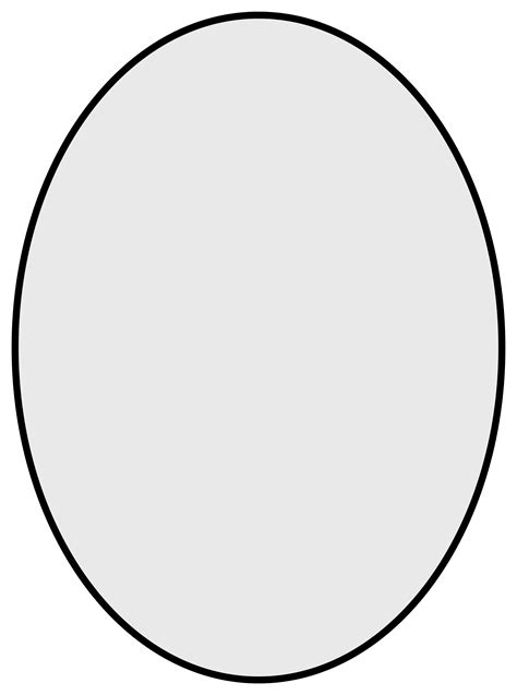 template for oval shape free coloring pages of oval