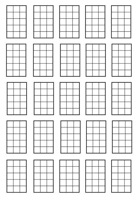 Printable Blank Ukulele Chord Chart | blank ukulele chord chart white gold