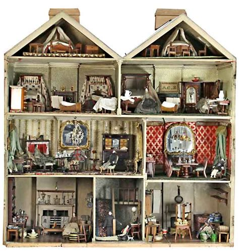 Interior Of The Victorian Dolls House Sold At Chorley S For 163 42 450 In A Sale