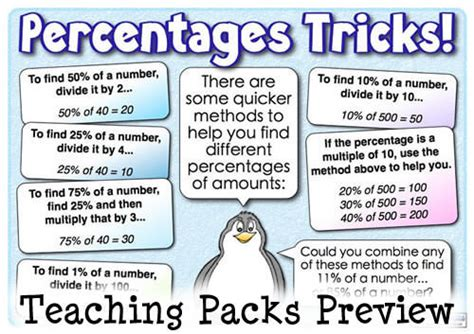how to do a the percentages pack