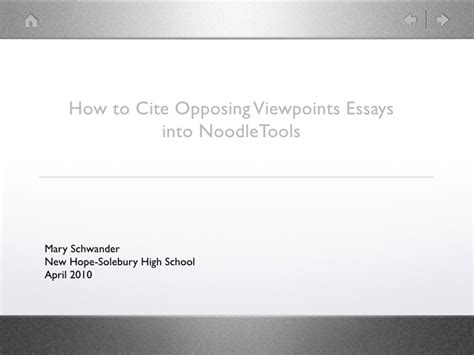 Opposing Viewpoints Essay by Citing Opposing Viewpoints Essays In Noodletools