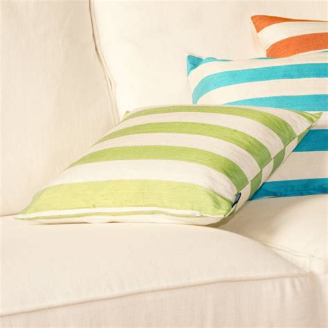 striped silk cushion covers by jodie