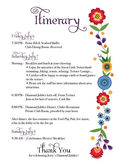 bridal shower itinerary template rkdesigns february 2013