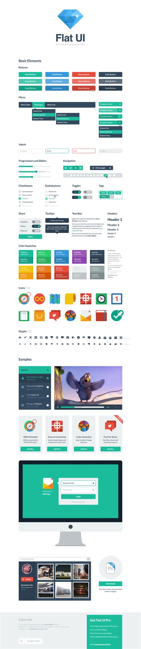 bootstrap themes flat ui flat ui free framework and bootstrap theme design