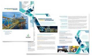 oil amp gas company brochure template design