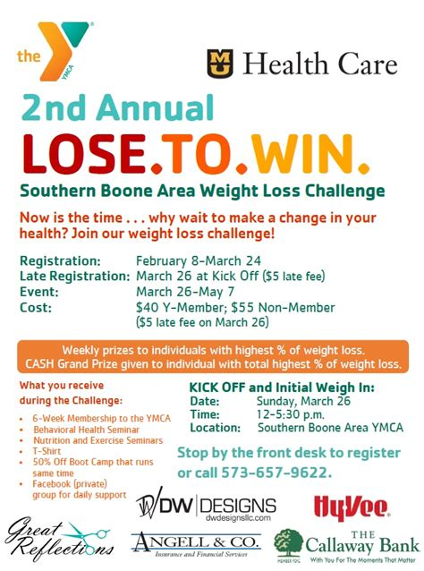 loser weight loss challenge 2nd annual lose to win weight loss challenge