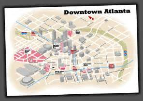 Atlanta Attractions Map by Downtown Atlanta Map Images Frompo