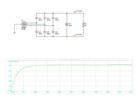 diode bridge graph three phase rectifier circuit simulation electrical engineering stack exchange