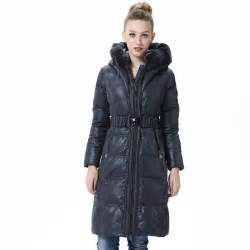 Long leather jackets for women with wide collars and belts