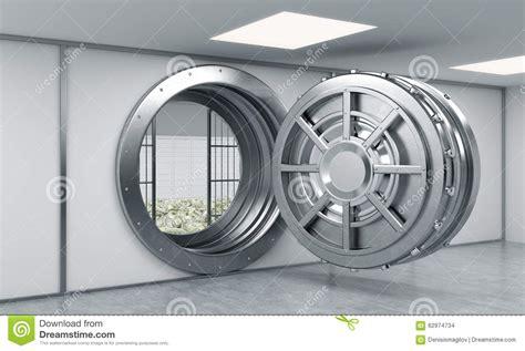caja fuerte en banco representaci 243 n 3d de una caja fuerte redonda abierta