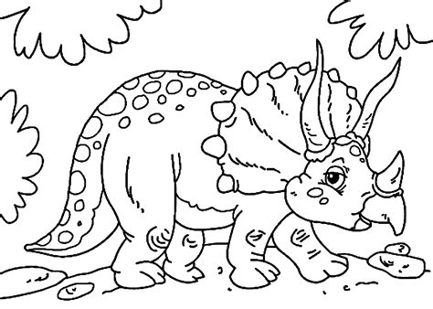 dinosaur coloring pages preschool cute little triceratops dinosaur coloring pages for kids