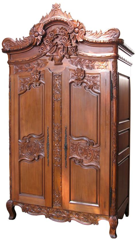 oversized armoire rococo crested large armoire