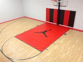 Snapsports custom logo indoor gym basketball court home gym chicago by snapsports