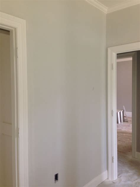 what color is dove walls are benjamin classic gray trim is bm white