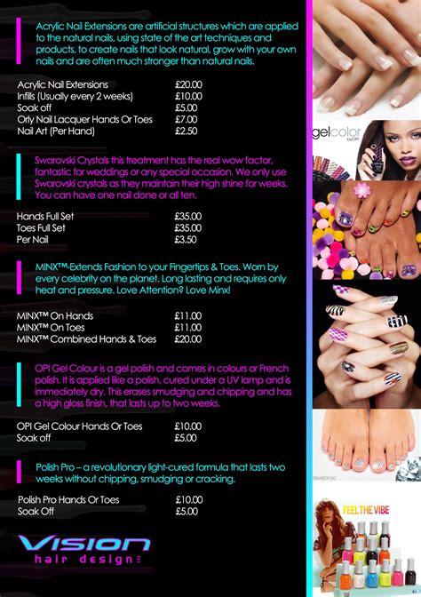 nail salon flyer free templates nail ftempo kotaksurat co