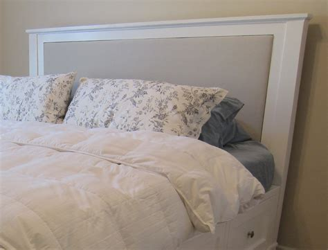diy king size upholstered headboard diy king size bed frame part 4 headboard and finished product