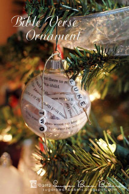 the truth about christmas decorations with bible verses learn how to make this bible verse ornament other ideas lines from a favorite book hello