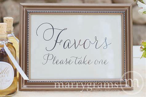 wedding favors table card sign wedding reception by marrygrams
