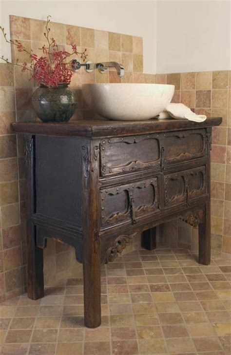 washstand made into bathroom vanity anasian antique