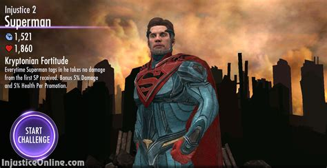 injustice challenge characters injustice gods among us mobile injustice 2 superman