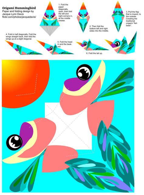 paper hummingbird template origami hummingbird template free printable papercraft