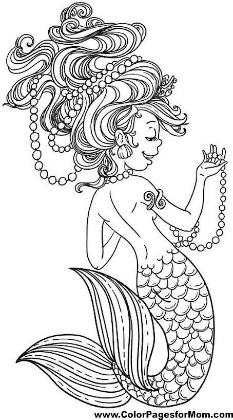 mermaid coloring pages for adults mermaid pages for adults coloring pages