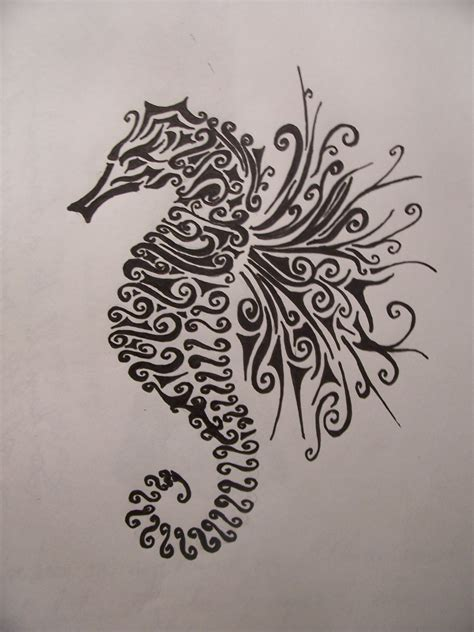 seahorse tattoos designs polynesian tribal seahorse www imgkid the image