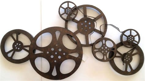 authentic film reel movie camera wall decor home theater large home cinema theatre movie reels wall art plaque