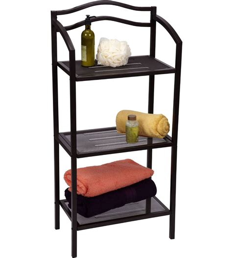 Bathroom Rack Shelf by Bathroom Storage Rack In Bathroom Shelves