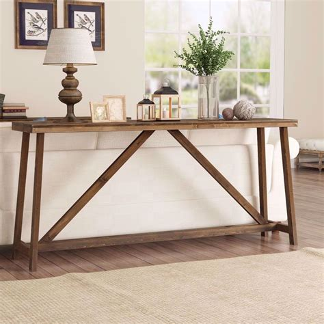 tribesigns  inches extra long rustic console table