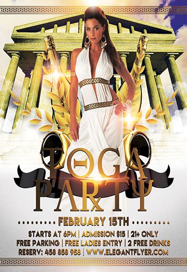 Toga Party Flyer Template free psd flyer templates for photoshop by elegantflyer