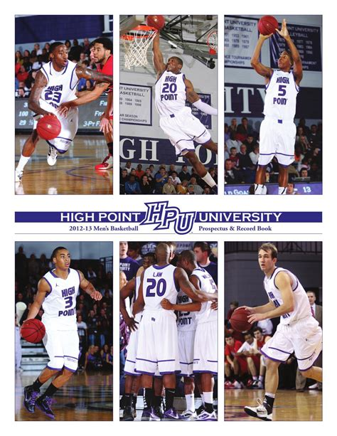 basketball 2012 record 2012 13 hpu s basketball prospectus record book by