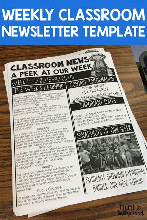 printable newsletter templates all concept template teachers