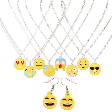emoji jewelry wholesale fashion stainless steel emoji jewelry set 2016