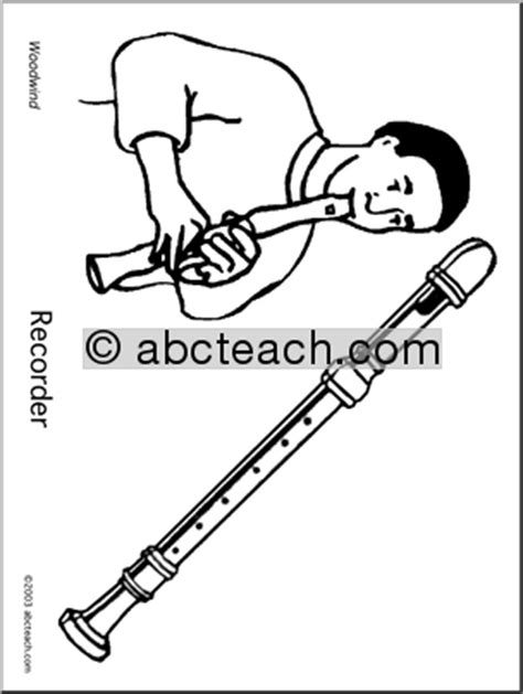 wind instruments coloring pages how to draw woodwinds