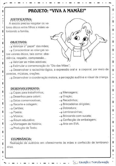 Projeto Dia das Mães Educação Infantil - Viva a Mamãe para