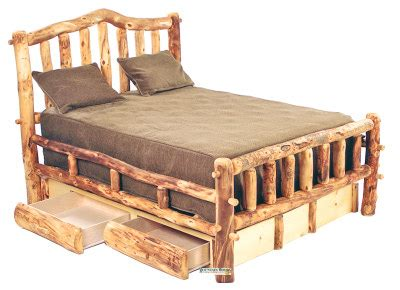 bedroom sets with drawers under bed sears dining room sets handcrafted rustic aspen log furniture and pine log
