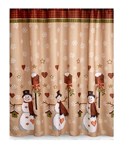 primitive snowman shower curtain primitive country snowman shower curtain memsaheb net