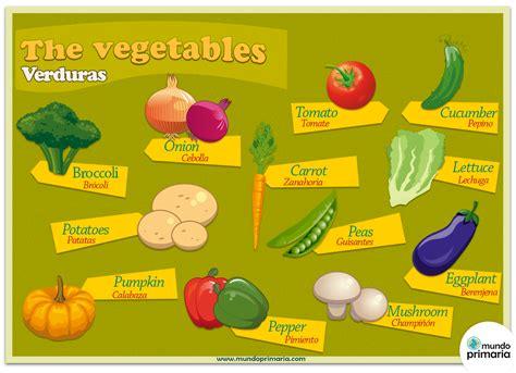imagenes vegetales en ingles las verduras en ingl 233 s mundo primaria