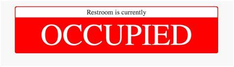 bathroom occupied signs bathroom occupied signs